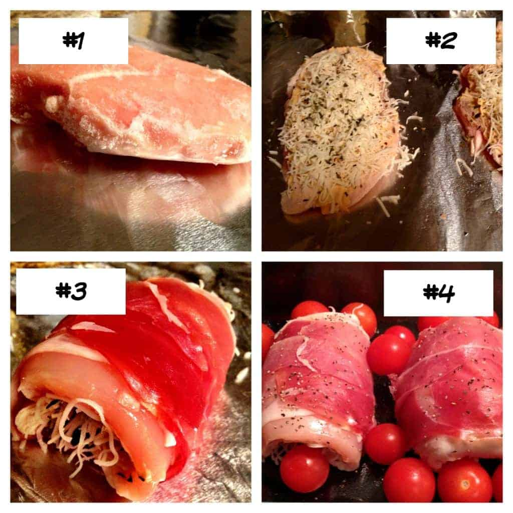 Cheesy Proscuitto Wrapped Chicken