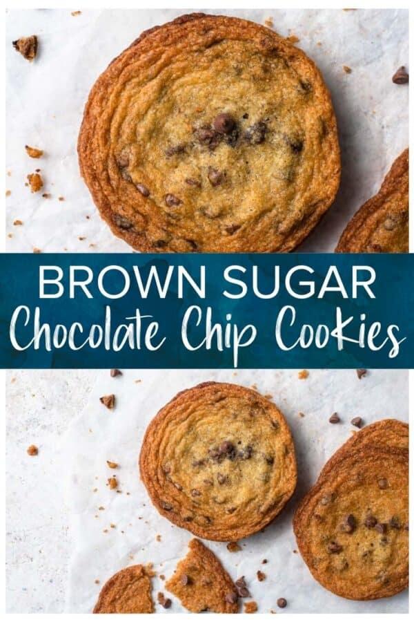 brown sugar chocolate chip cookies pinterest image
