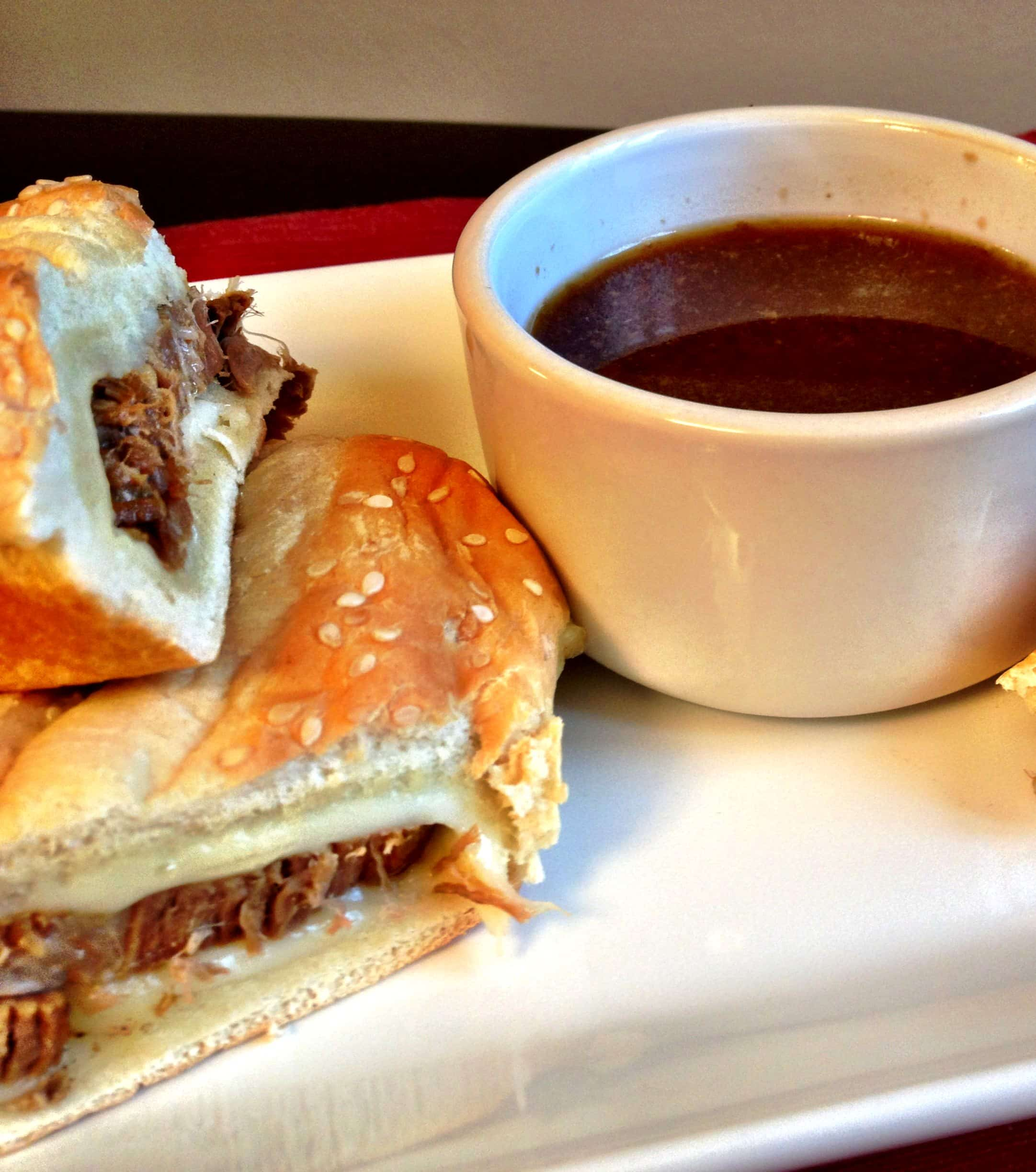 beef au jus sandwiches (french dip) - The Cookie Rookie