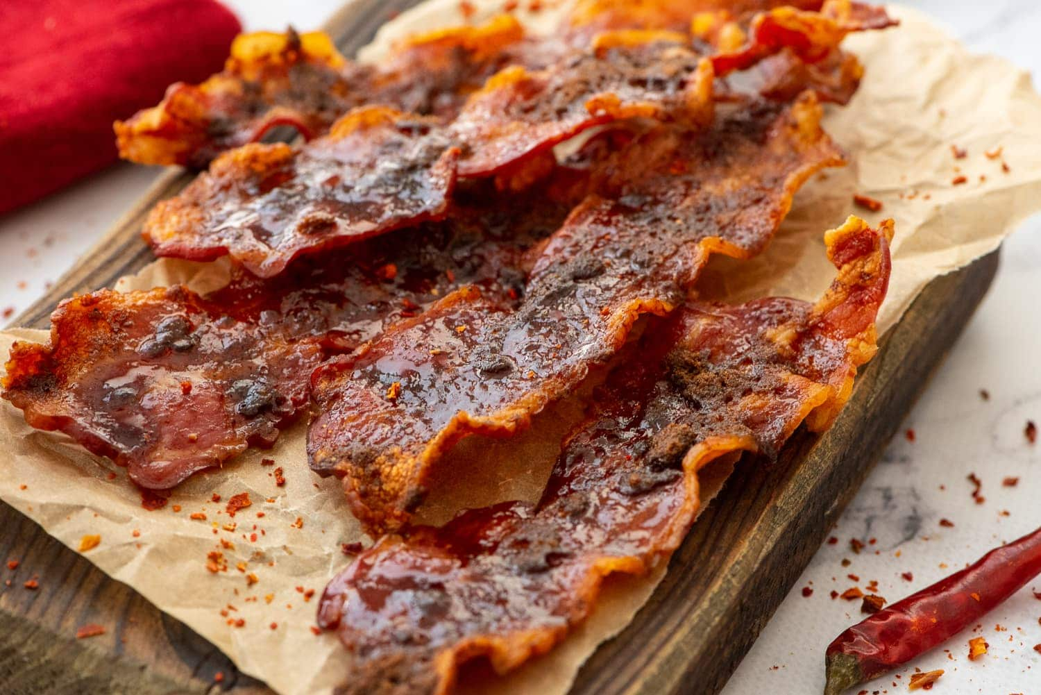 strips of oven baked bacon