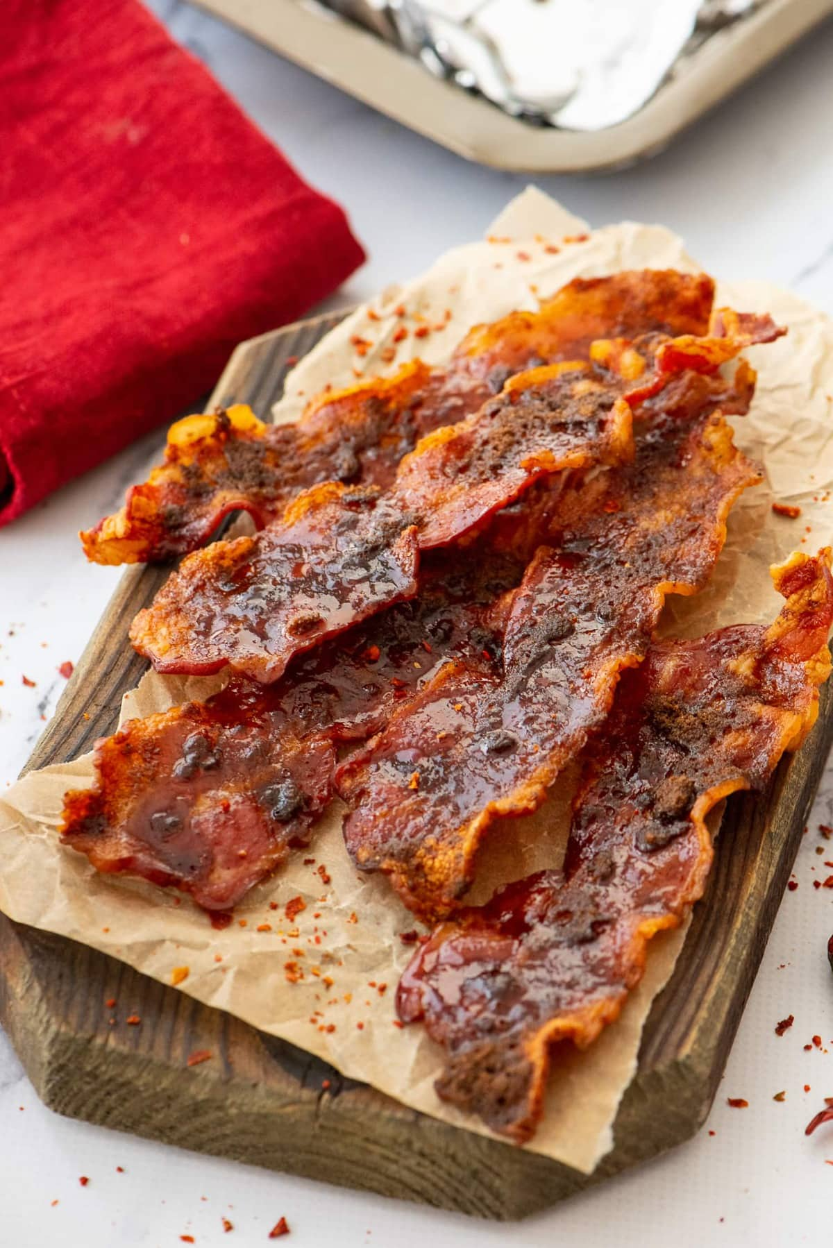 cayenne and brown sugar bacon strips