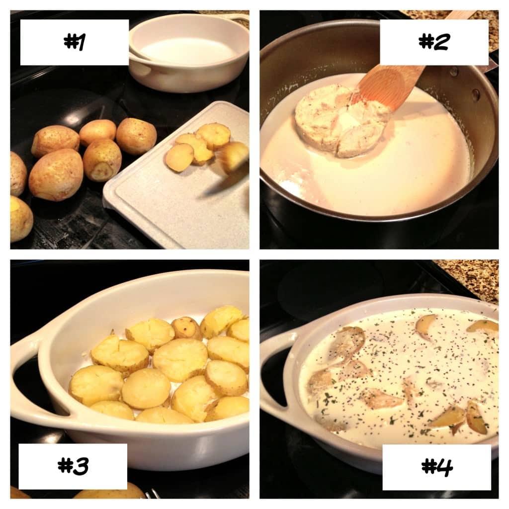 potatoes gratin with boursin
