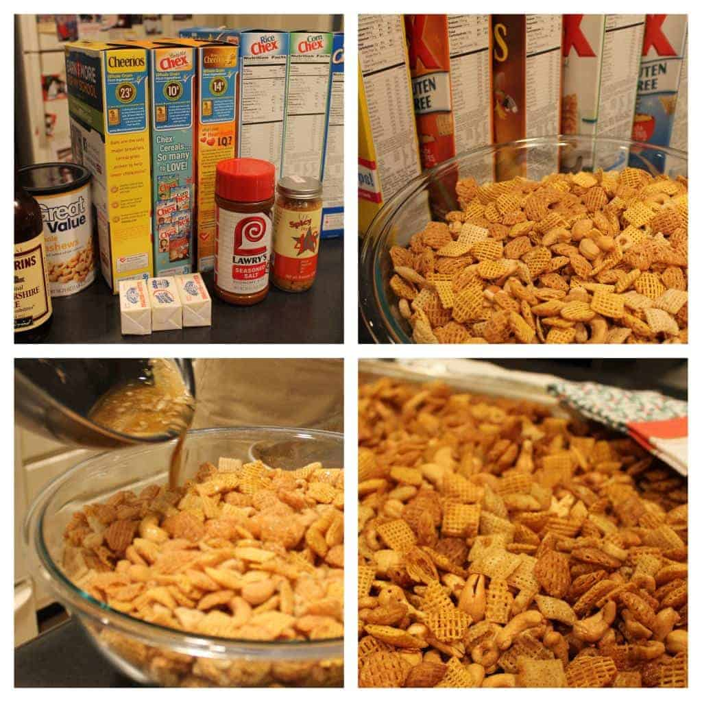 Chex Mix Recipe is a recipe my Mom has been making since I was a little kid. It's our family's favorite BEST Chex Party Mix! It doesn't get better than this mix of cereal, nuts, pretzels, and all that spice! A little bit sweet and little bit spicy. This BEST EVER Chex Party Mix Recipe is perfect for Christmas, tailgating, Summer BBQs, and every day in between. SO ADDICTING!