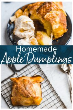 Apple Dumplings are the perfect fall treat! I love eating anything apple during autumn, and this apple dumpling recipe is a classic. This easy apple dumplings recipe is so good fresh out of the oven with a scoop of ice cream!