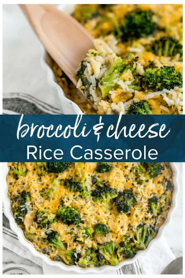 Broccoli Cheese Rice Casserole is a creamy, cheesy side dish perfect for any meal. This baked green rice casserole is a classic recipe for Thanksgiving, filled with broccoli, rice, cheese, cream of mushroom, & water chestnuts.