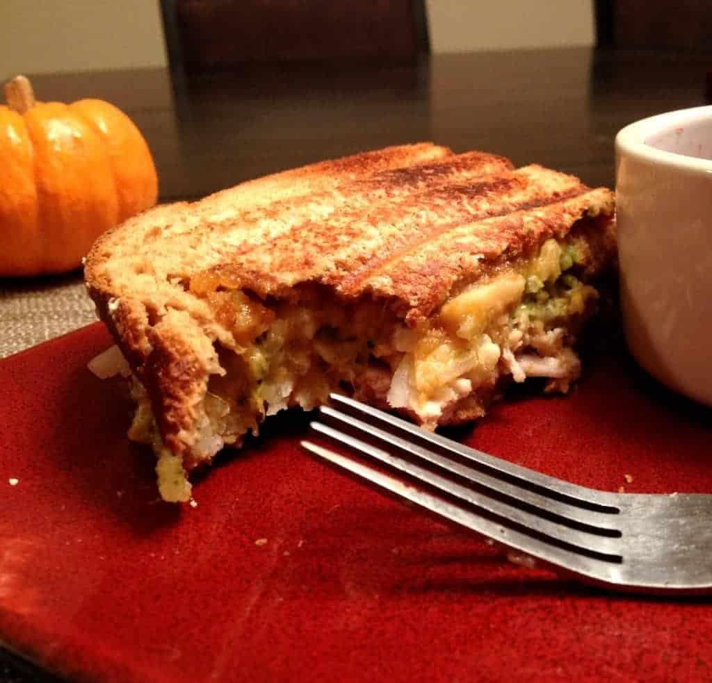 thanksgiving leftovers panini!