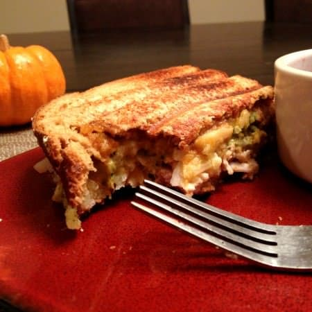 thanksgiving leftovers panini!
