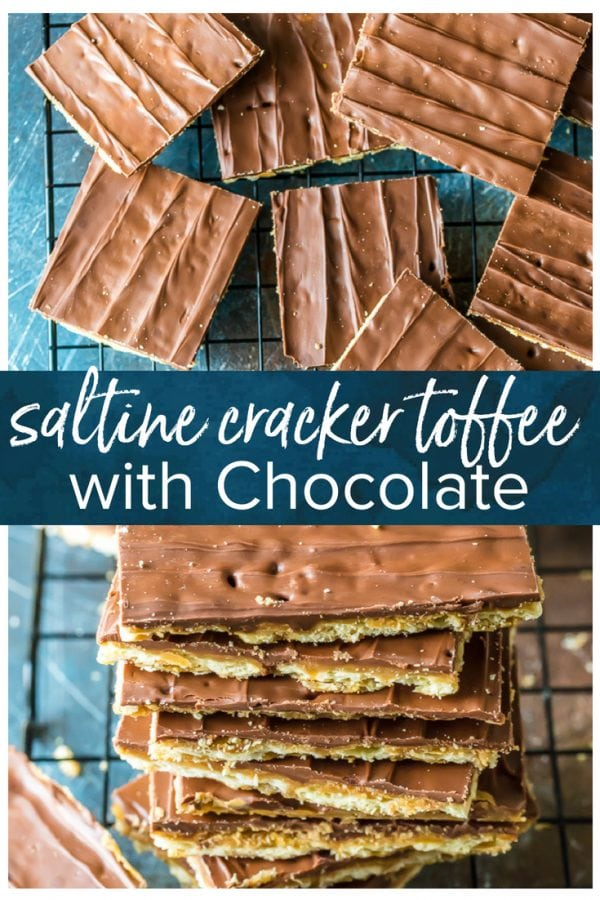 Saltine Cracker Toffee is a simple and tasty snack to prepare for unexpected visitors or just for a night in. Chocolate Saltine Toffee is an easy go-to recipe when you just don't have much on hand. And they're actually SO good, and so satisfying. This Saltine Cracker Toffee with Chocolate recipe is the perfect thing to keep on hand for when you have a sudden chocolate craving.