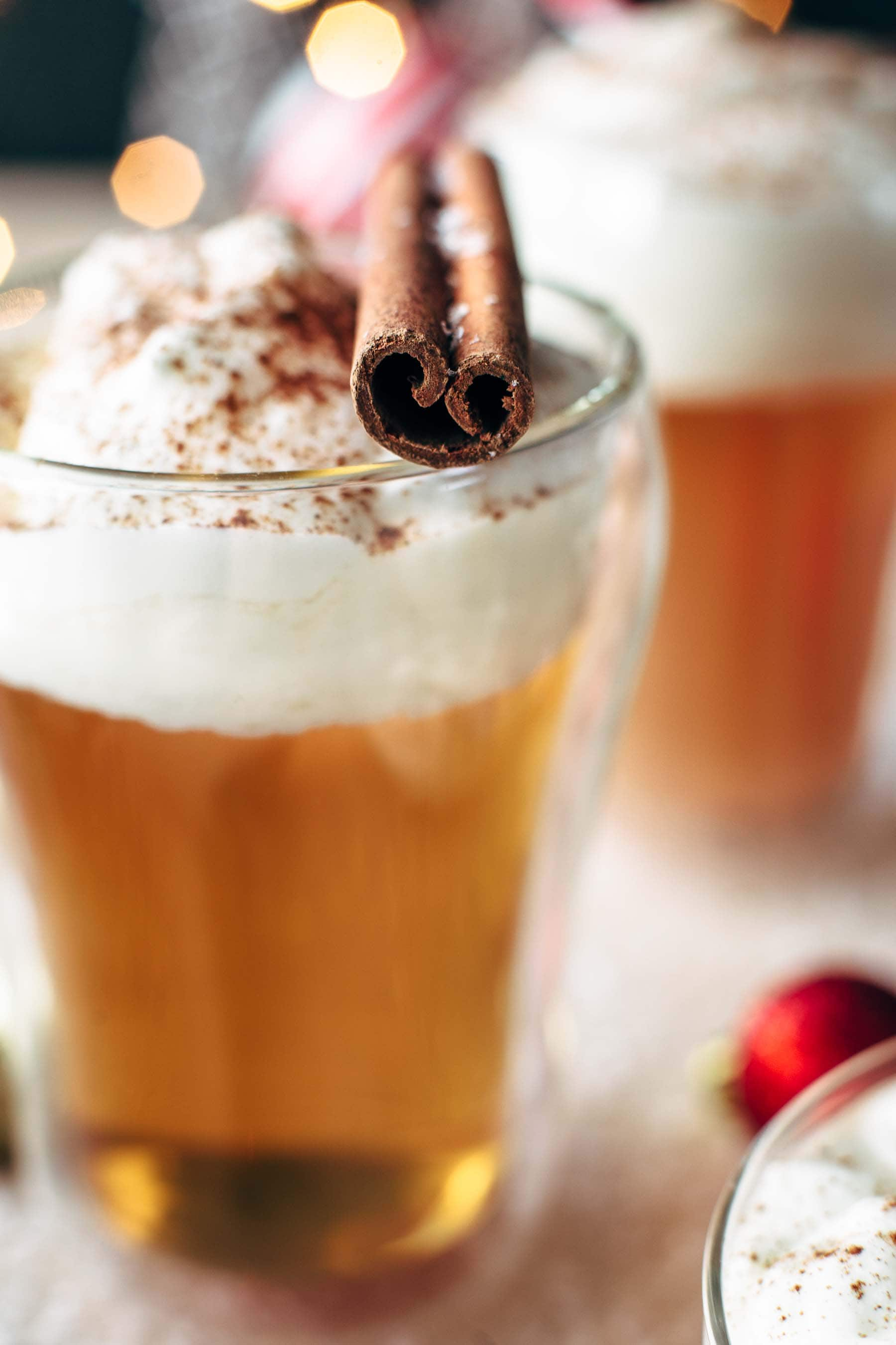 Caramel Apple Hot Toddy Cocktail