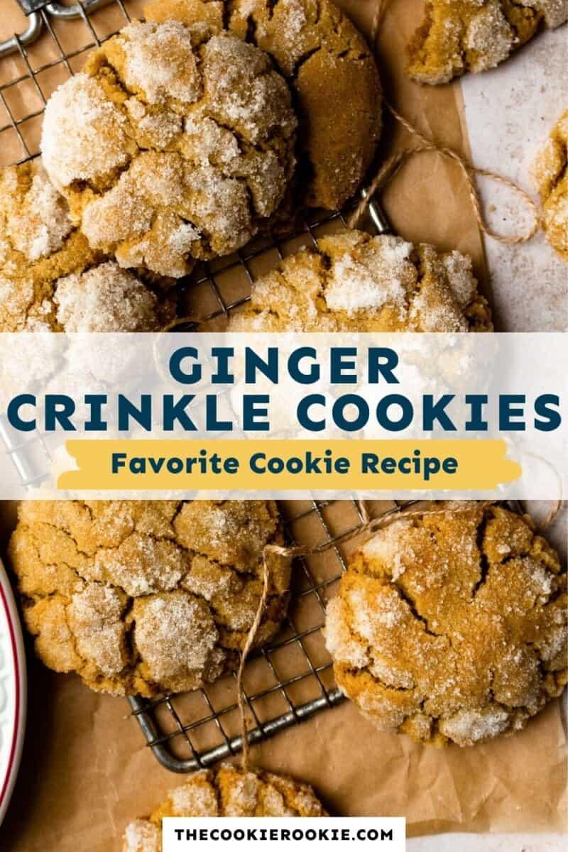 ginger crinkle cookies pinterest
