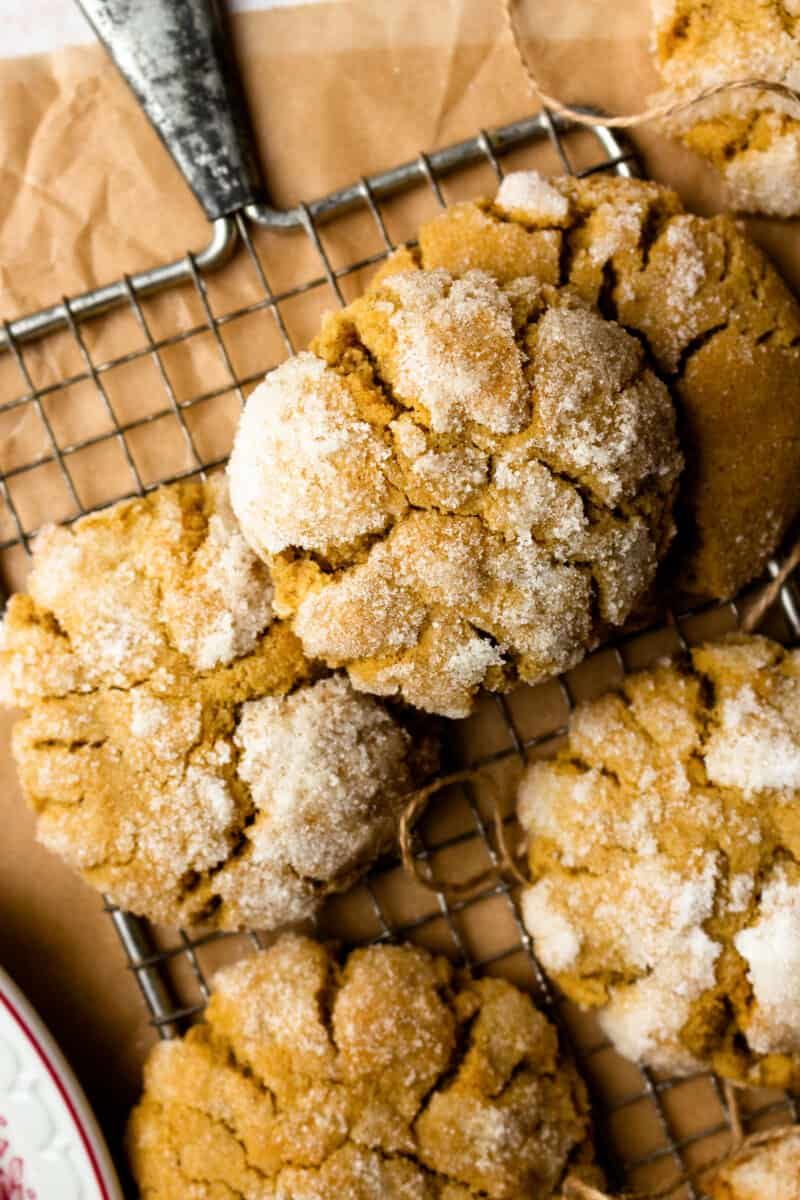 up close ginger crinkle cookies