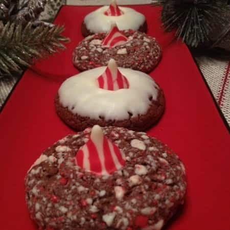 Candy Cane Chocolate Doozies