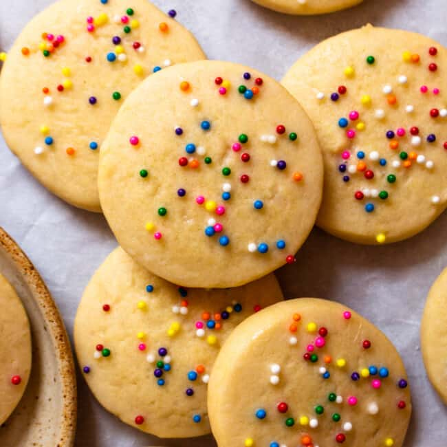 Riscotti Italian Anise Cookies with sprinkles