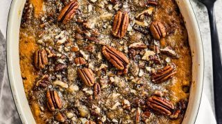 Crunchy Sweet Potato Casserole with Pecan Topping