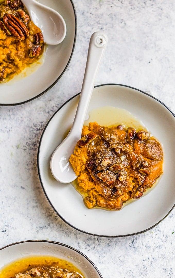 A plate of sweet potato casserole