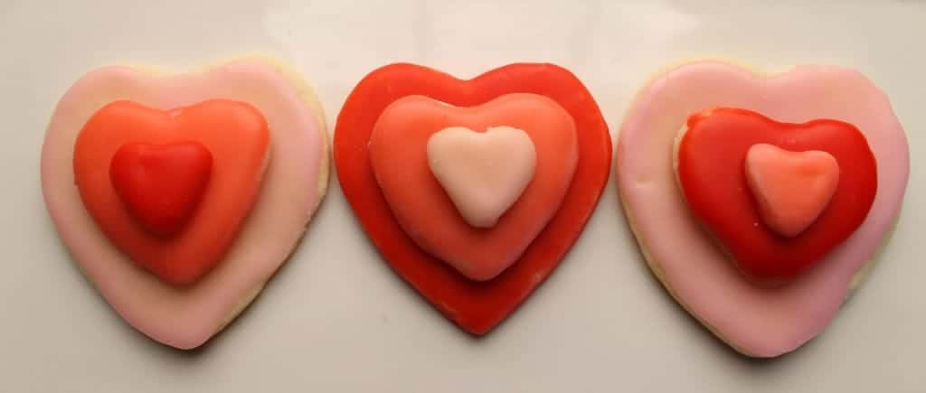 iced valentines cookies