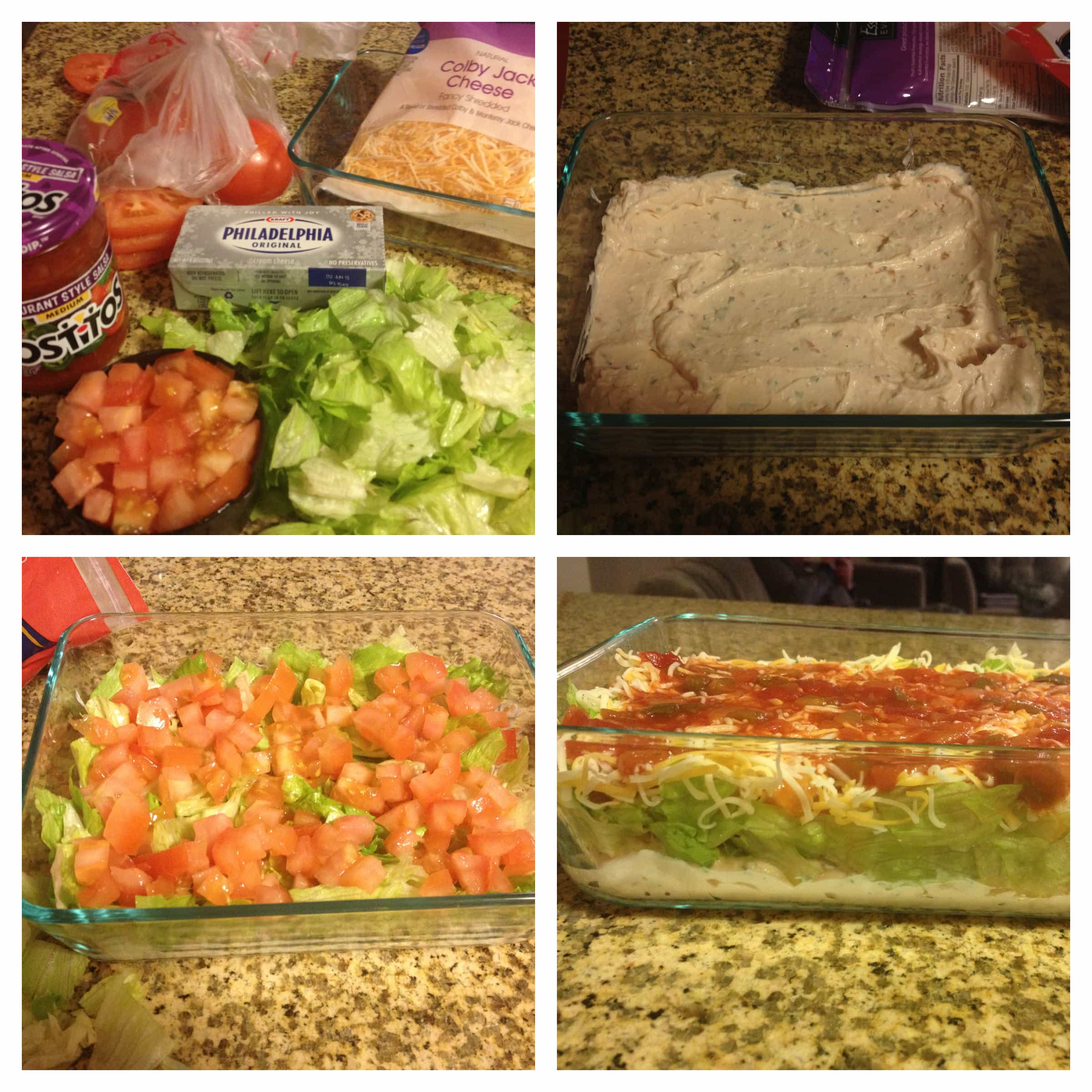 layered taco dip - The Cookie Rookie