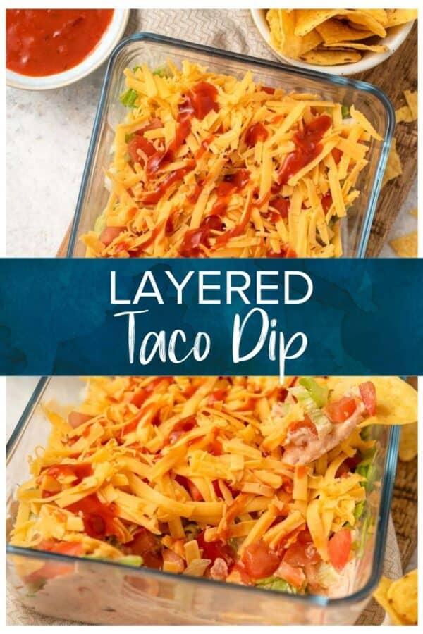 layered taco dip pinterest photo