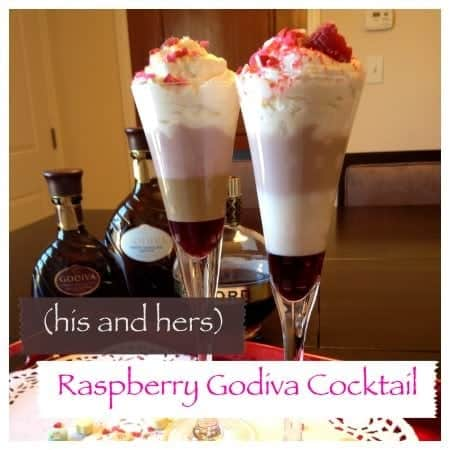 (his and hers) raspberry godiva cocktail