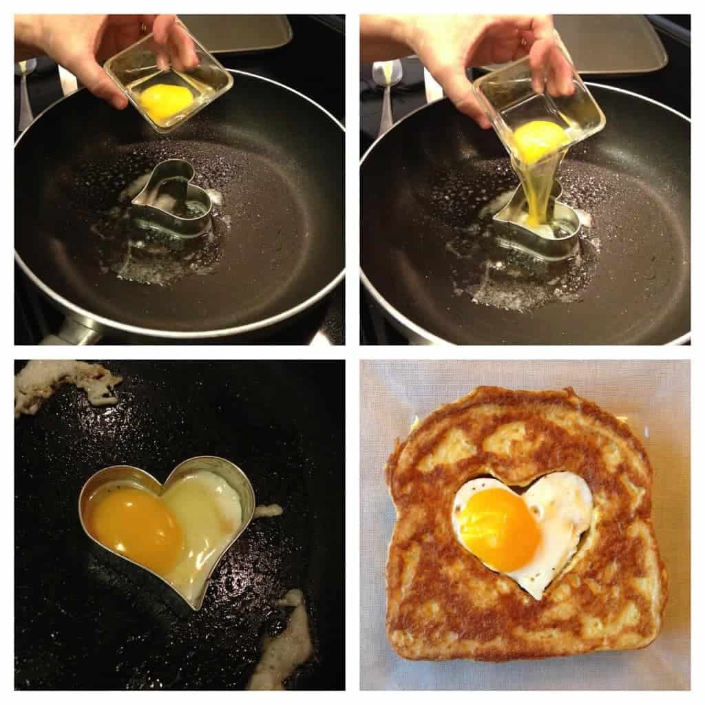 bacon and eggs french toast. the perfect breakfast for valentines day!