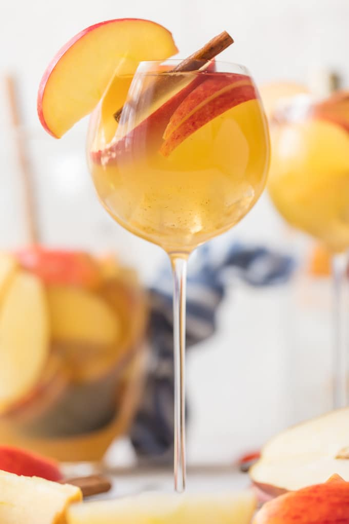 Fall Sangria recipe with apples and cinnamon