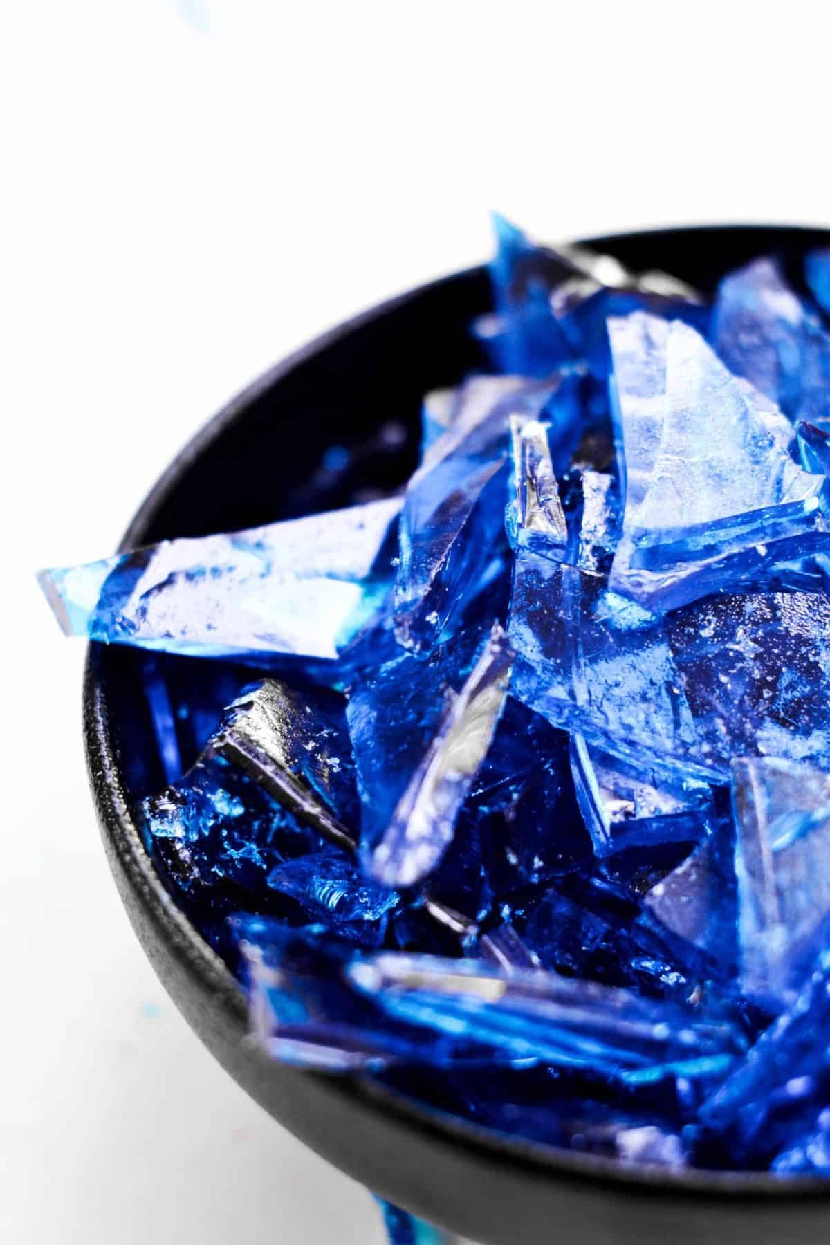 pieces of rock candy in a bowl