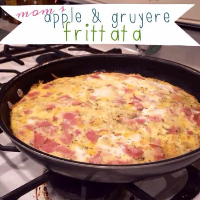 apple and gruyere frittata