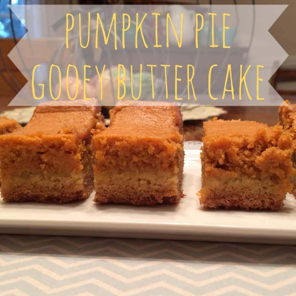 Pumpkin Gooey Butter Cake Without Cake Mix