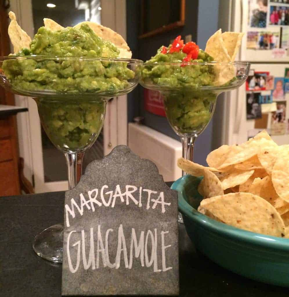 margarita guacamole. guacamole infused with tequila.