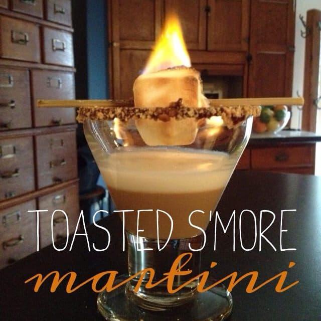 toasted s'more martini
