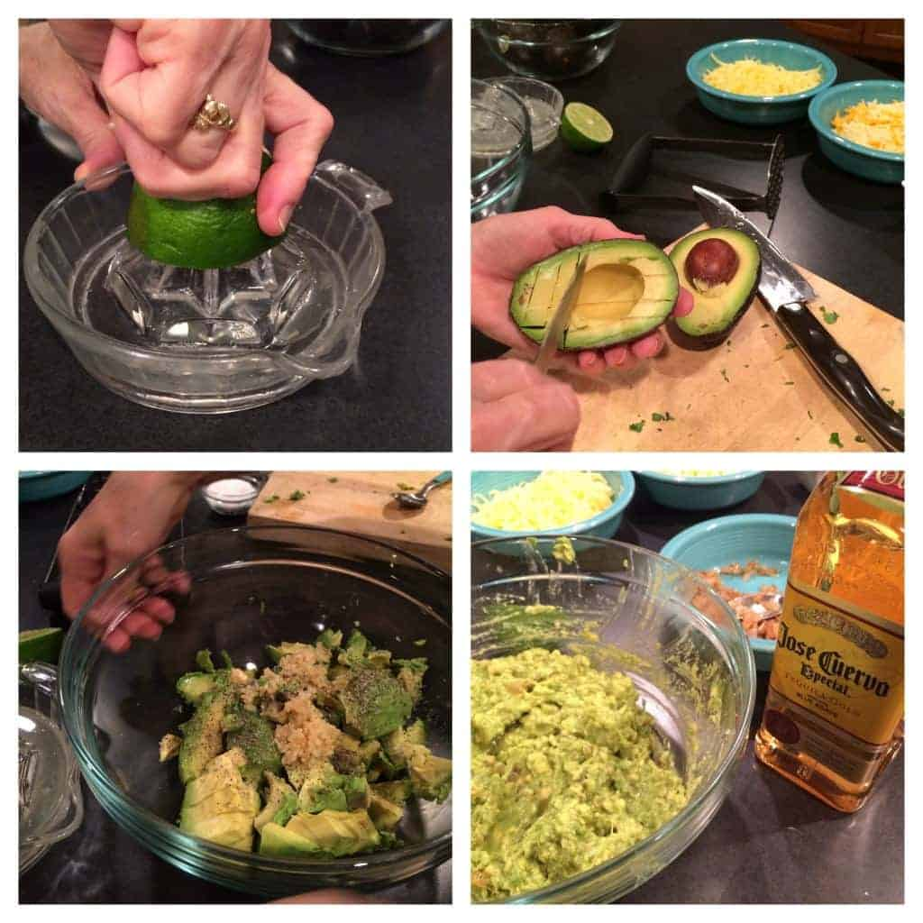 margarita guacamole. guacamole infused with tequila.