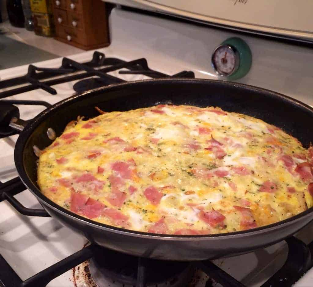 mom's apple and gruyere frittata.  the perfect breakfast meal! delicious and EASY!