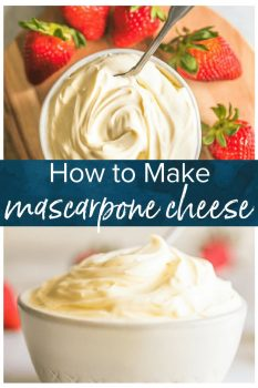 This Mascarpone Cheese recipe is creamy, delicious, and easy to make.Use this homemade cheese recipe as a Mascarpone Substitute in all kinds of recipes!