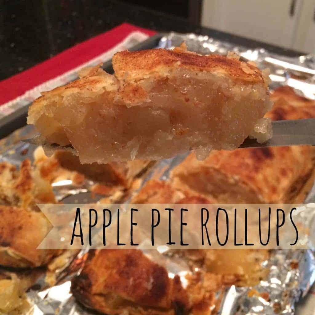 apple pie roll ups on cookie sheet