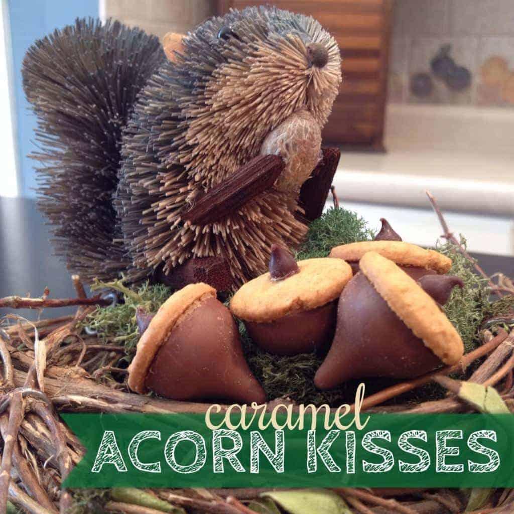 caramel acorn kisses