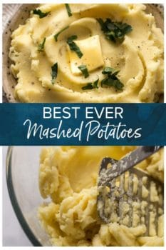 Best Ever Mashed Potatoes- Pinterest collage