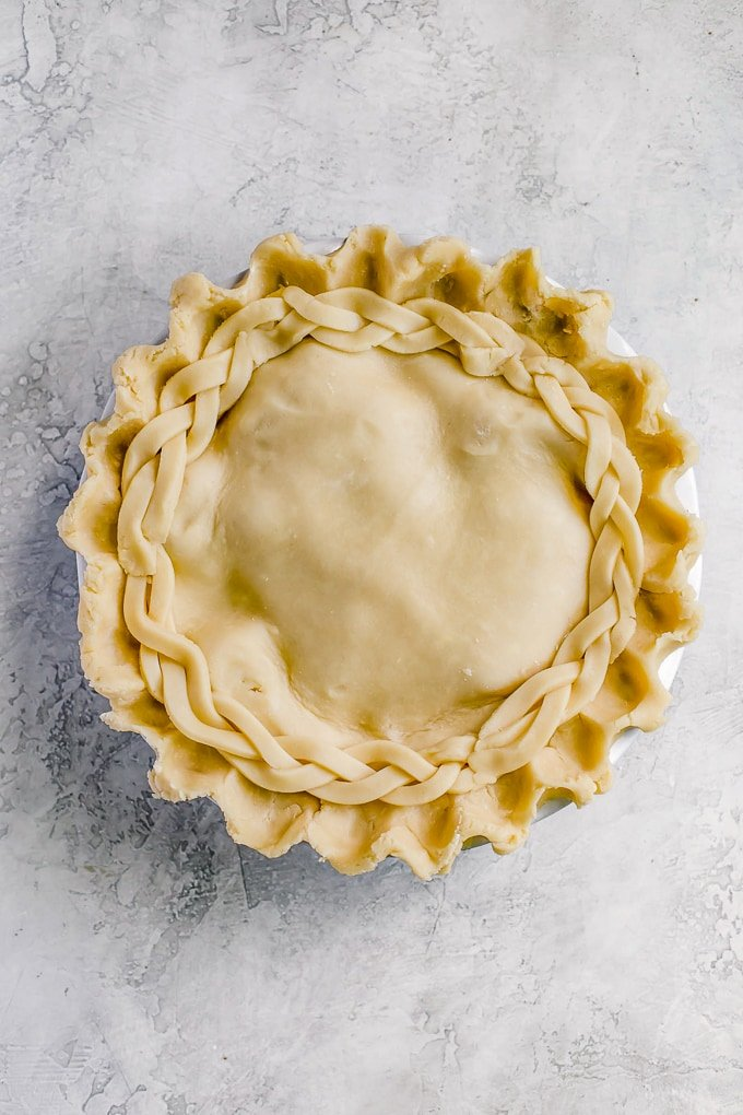 Homemade Apple Pie Crust: Double Crust Apple Pie before baking