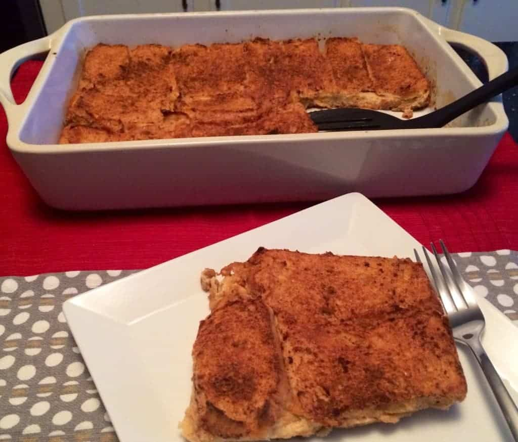 pumpkin and eggnog french toast