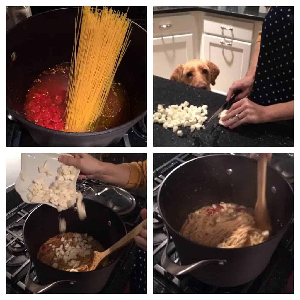 skinny caprese pasta