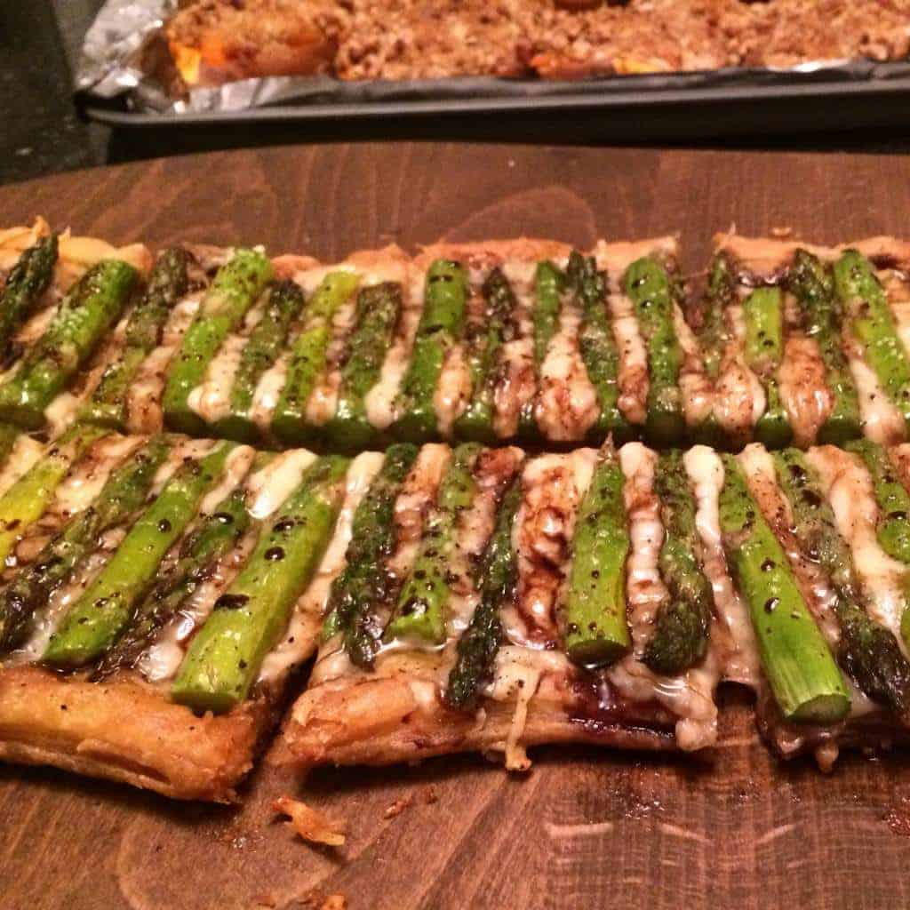 Asparagus Tart with Gruyere Cheese