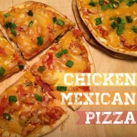 chicken mexican pizzas