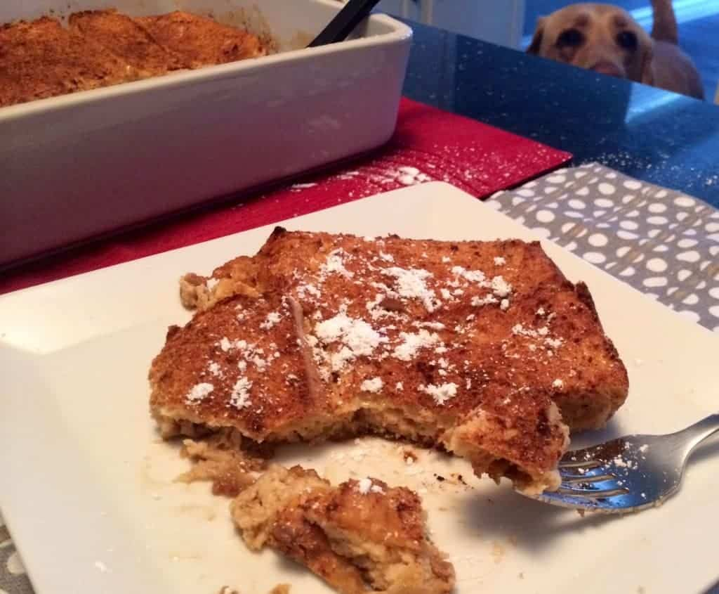 this is the breakfast that can make me a morning person! pumpkin nog french toast bake. make it overnight!