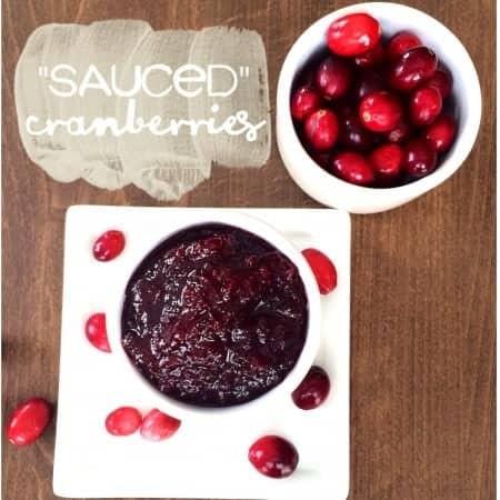 """""""sauced"""" cranberries"""