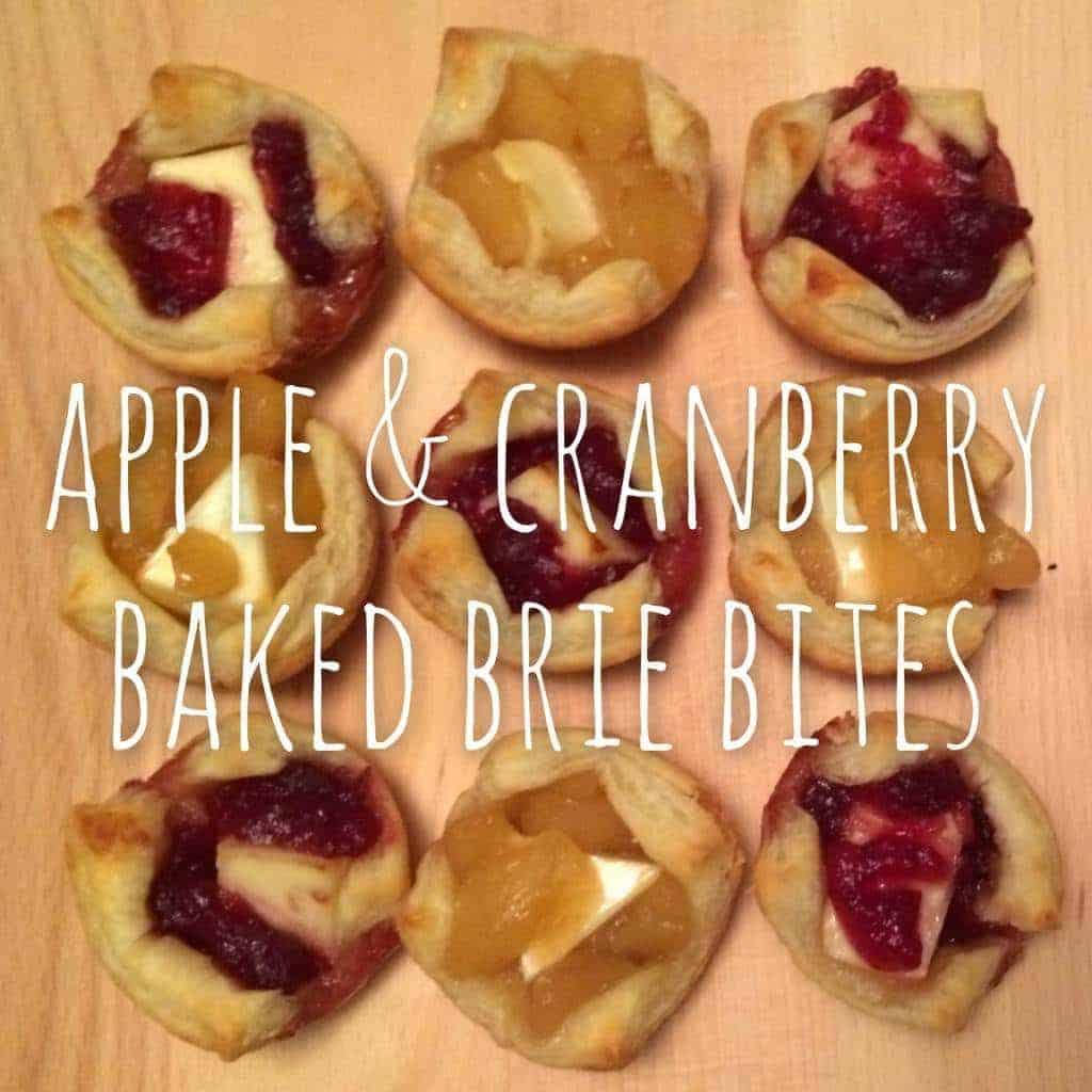 apple & cranberry baked brie bites. a beautiful and delicious dessert perfect for thanksgiving! (and they're the easiest dessert you'll ever make)