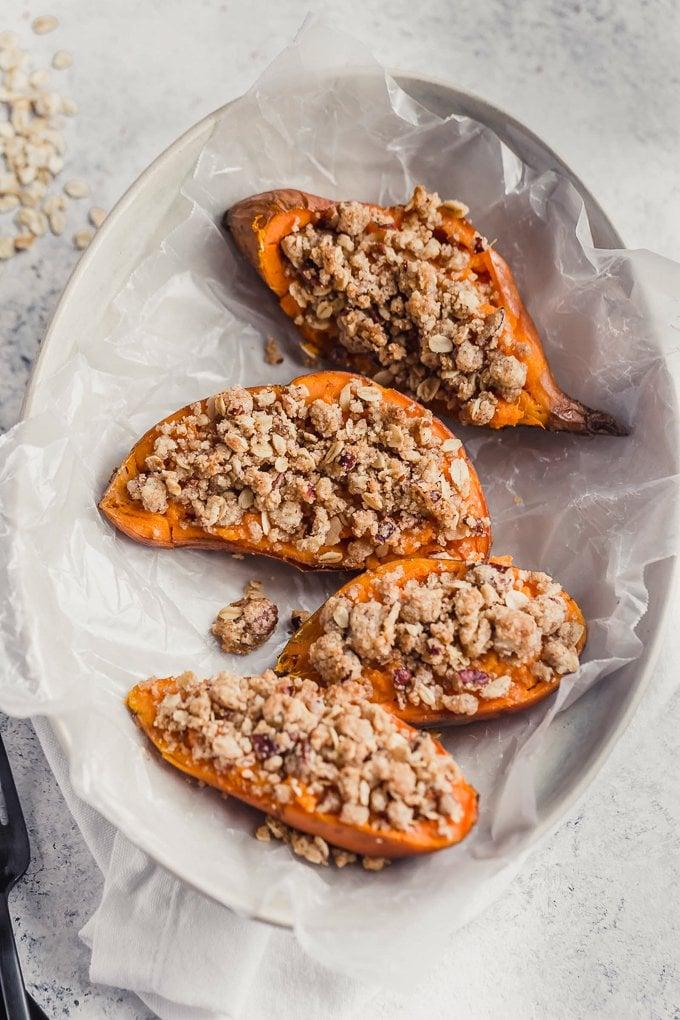 Twice Baked Sweet Potato halves