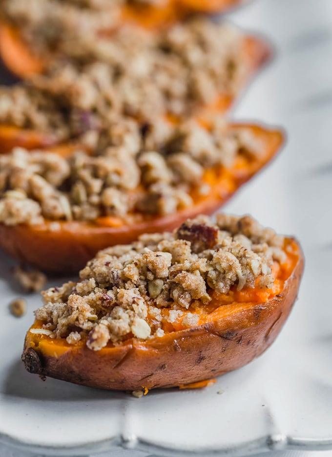 Twice Baked Sweet Potato halves