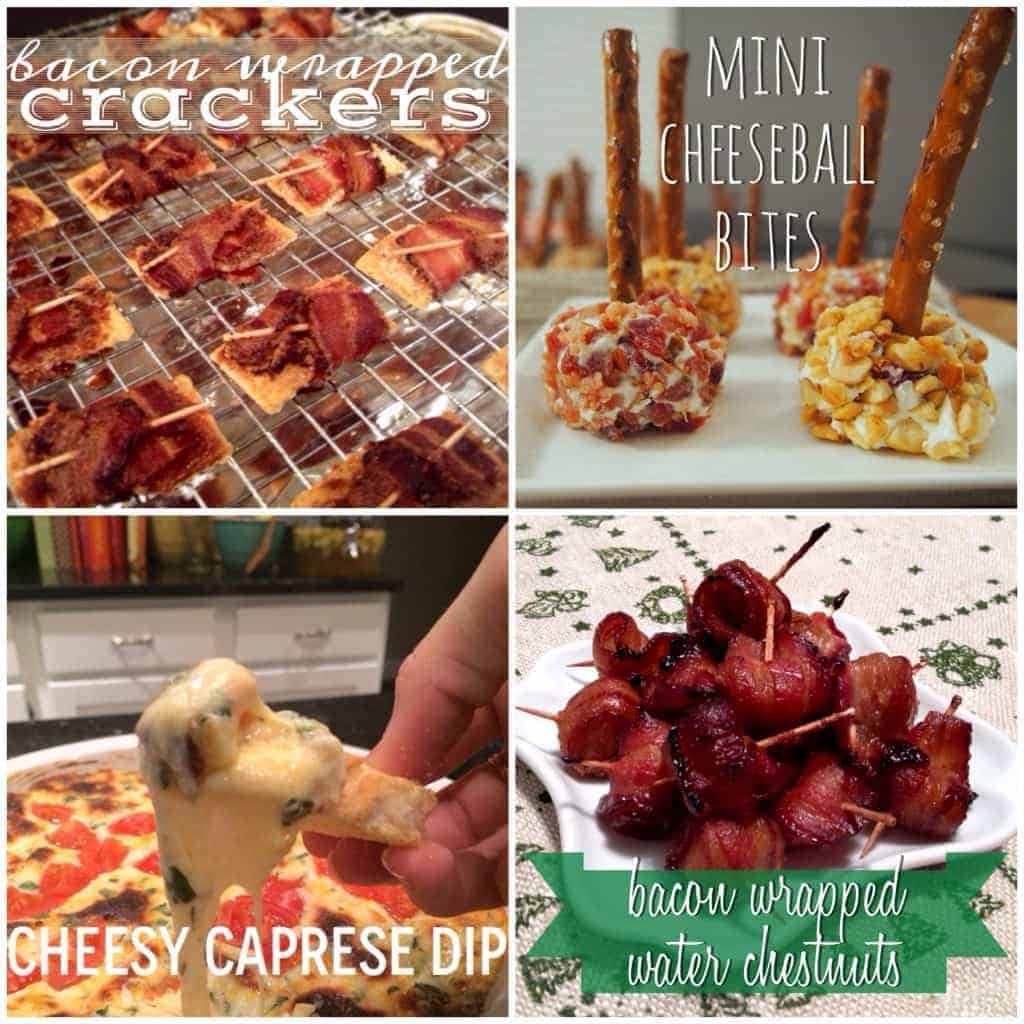 GREAT appetizer ideas for superbowl parties or New Years Eve!! (also has drink recipes)