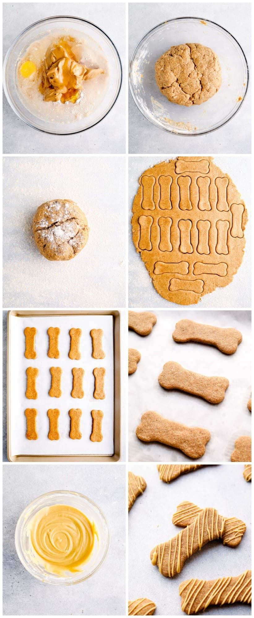 step by step photos for how to make homemade dog treats