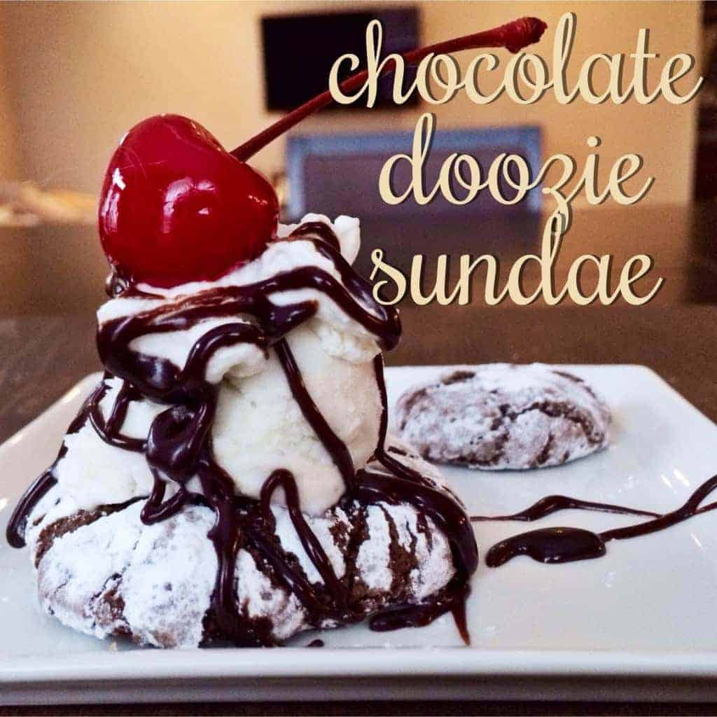 chocolate doozie sundae