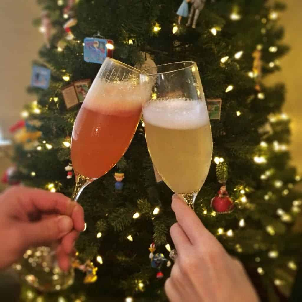 sherbet mimosas! these are so fun! making these for Christmas morning.